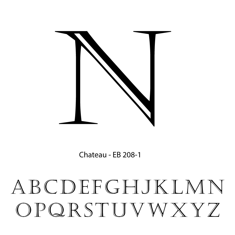 Single Letter Personalization-Chateau