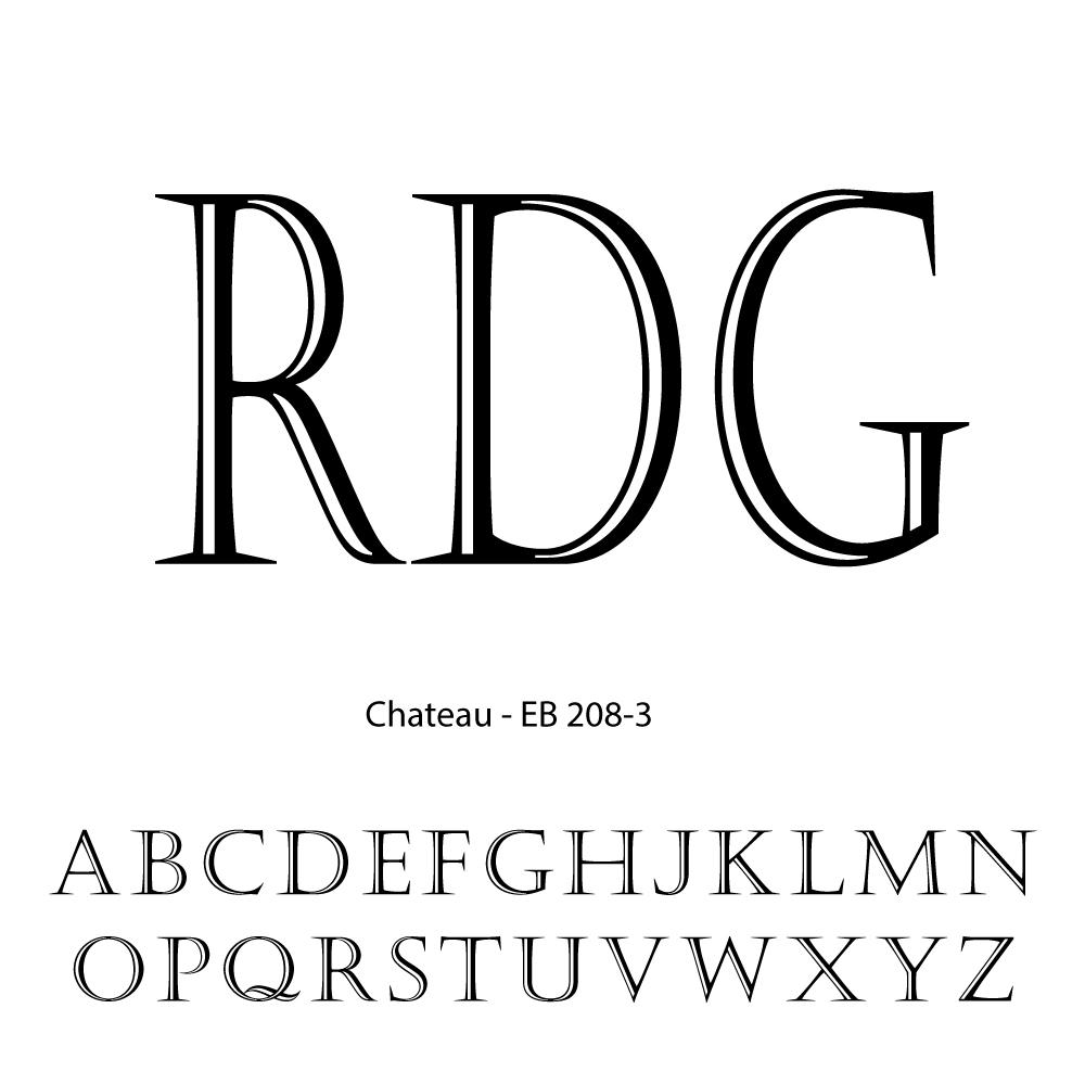 Triple Letter Personalization-Chateau