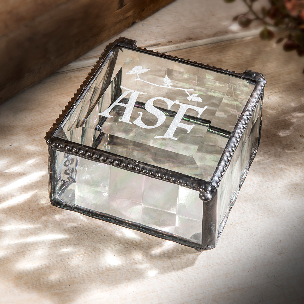 Personalization available on glass Box 333