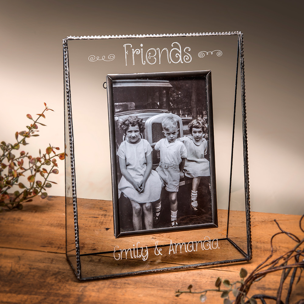 personalized glass photo frames and picture frames