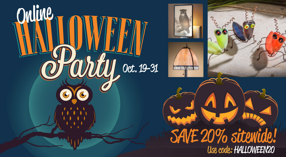 Sitewide sale on J. Devlin glass decor for Halloween sale and savings!