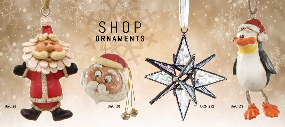 Glass ornaments and cast resin ornaments–Deck you tree with beauty!
