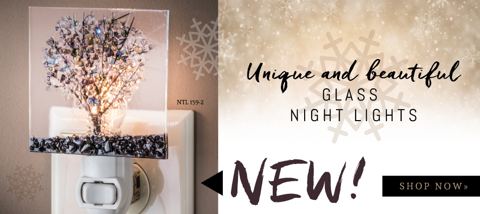 Beautiful glass night lights just released by J. Devlin!