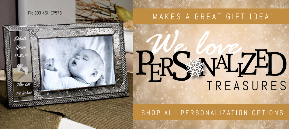 Personalized gifts for any occassion. Wedding gifts, new baby gifts, Valentine's Gifts, and more!