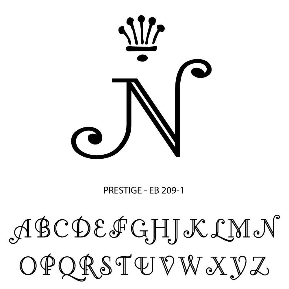 Single Letter Monogram - prestige