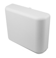 Indoor Wallplug Enclosure and 12V US power supply for all OM Series access points that conveniently hides the access point and power supply inside. Securely attaches to the center or bottom screw of a North American standard and decora-style wall outlet.