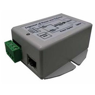The TP-DCDC Series of DC to DC converters offered by Tycon Power Systems are a low cost and high reliability solution for those requiring 18V to 48VDC Power Over Ethernet voltage from a 12 or 24V battery system. They have an integrated POE injector to apply the 48VDC to the CAT5 Ethernet cable. The output is regulated 18V, 24V or 48VDC from an input voltage between 9VDC and 36VDC. They have two isolated inputs for connecting 2 power sources, like a primary and backup power source. They accept data-in to a shielded RJ45 Jack and provide data-out and POE power on the shielded RJ45 output jack. They work by supplying power on the unused Ethernet pins 4,5(V+) and 7,8(V-).  They have various protections for surge, short circuit and overload. The units have power output up to 24W.  If the remote device does not support power over Ethernet, splitters (TP-POE-SPLT-1) are available to split the data and DC voltage at the remote device.  Features Input Voltage 9-36VDC; Output 18V, 24V or 48VDC Dual Inputs for connecting 2 power sources Integrated POE Inserter High Power up to 24W Low self consumption power Short Circuit, Over Current and Over Voltage Protection High Temperature Operation Compact size ¡V Floor / Desktop / Wall Mount Applications 12V / 24V Battery Systems Wireless Access Points and Client Devices IP Phone and Security Camera Systems