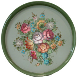 P2008 French Floral Round Tray $5.95