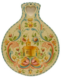 SOLD Os Rosemaling Lefsa Board-SOLD