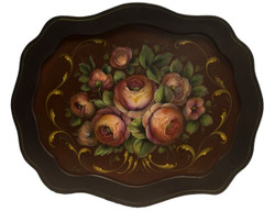 SOLD Danish Roses Scalloped Tray SOLD