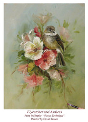 P1114 Flycatcher and Azaleas- Download