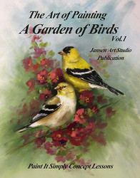 B5019 A Garden of Birds- Art of Painting Series-Printed