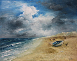 V1091- Afternoon Storm on the Beach- Download