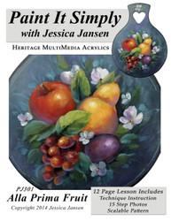 Alla Prima Fruit- Printed