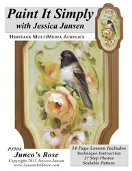 Junco's Rose- Printed