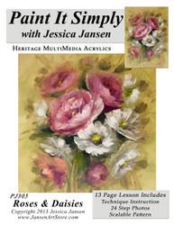 Roses & Daisies- Printed
