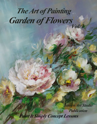 B5029 Garden of Flowers-  Book DVD Bundle- Art of Painting