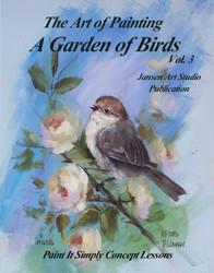 B5035 A Garden of Birds Vol 3- Art of Painting Series-Printed