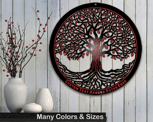 Tree of Life Wooden w/ Modern Masters Metallic Paint