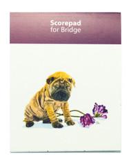 Bridge Score Pads (set of 3) | Sharpei | Roscoe