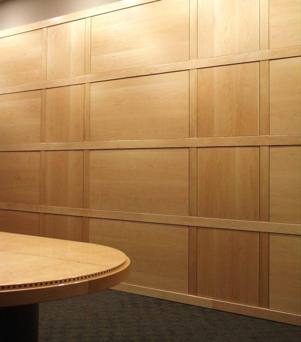 Modern Style Wainscoting in Maple with a clear finish