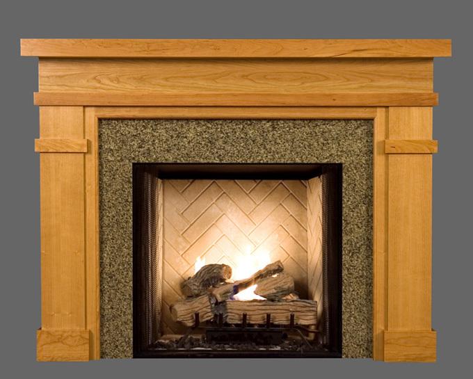 Bridgeport Custom Wood Fireplace Mantel - Wood Fireplace Mantels Mantel Surrounds