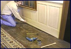 wainscot paneling installation - step 11