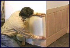 wainscot paneling installation - step 3