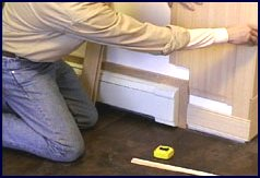 wainscot paneling installation - step 4