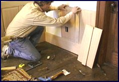 wainscot paneling installation - step 5