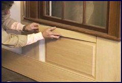 wainscot paneling installation - step 7
