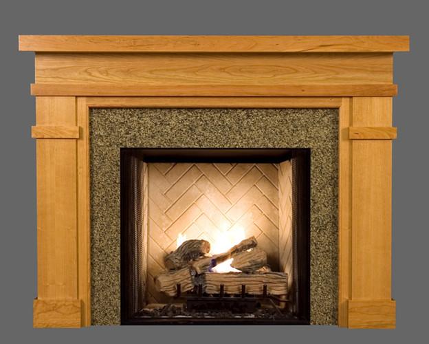 Wood Fireplace Mantel Surround Part - 35: New England Classic