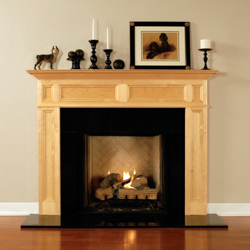 Add the black granite facing kit to your custom fireplace mantel today!