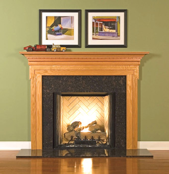 Enhance the beauty of your room with the Nashville fireplace mantel.
