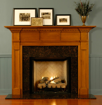 Be the envy of your friends with this gorgeous custom wood fireplace mantel.