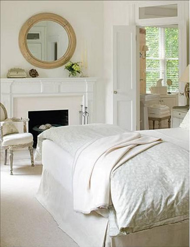 Fireplace Mantel painted white, for design inspiration