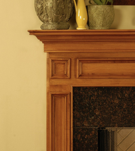 The Saratoga is shown here with one of our granite facing kit.