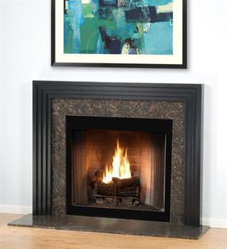The Urban fireplace is shown here without the shelf.
