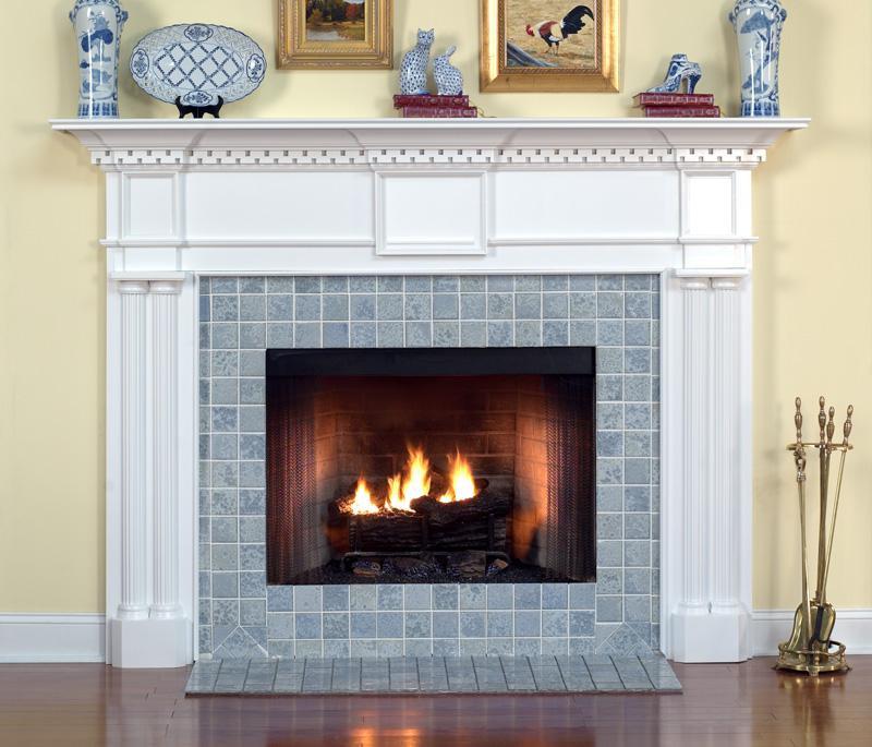 Wood Fireplace Mantel Columbia