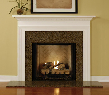 fireplace manels. Installed wood mantel with a granite facing kit  Wood Fireplace Mantels Mantel Surrounds