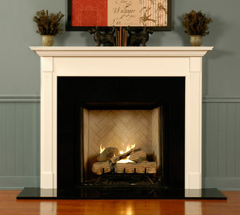 Any of the wood mantels can be built with an extra deep return.