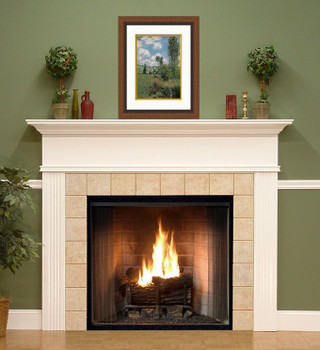 Our custom made Killen fireplace comes in six wood types and several color options.