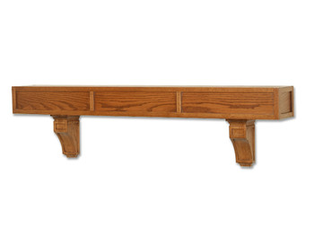 The Mission mantel shelf looks great on any wall