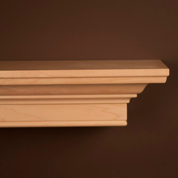 Daphne Natural Maple Mantel Shelf by New England Classic - Corner Detail