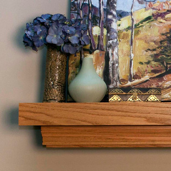 Clean lines are featured on this fireplace mantel shelf