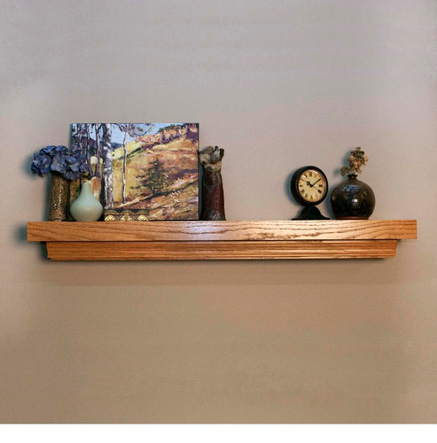 Clean lines are featured on the Huntington fireplace mantel shelf
