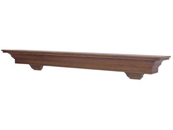 Simple yet stylish mantel shelf.