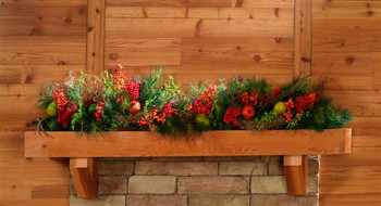 Cedar Mantel Shelf