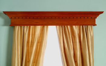 Dentil molding can be added to any window cornice
