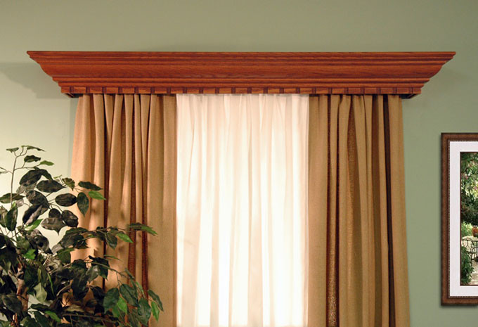 All window cornices can be custom made to fit any size window or door. & Custom Cornices | Wood Valances | Danville